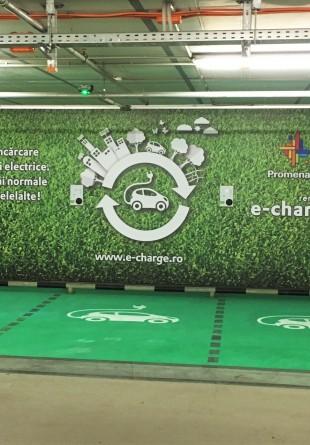 Mașinile electrice se încarcă la mall Promenada!