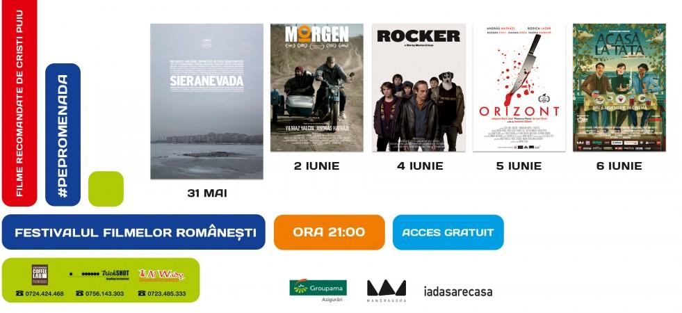FESTIVALUL FILMELOR ROMÂNEȘTI: serile de film #PePromenada se întorc!