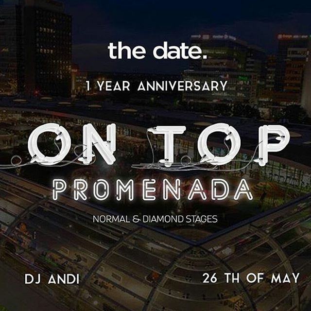 We meet again to party #PePromenada! We open the season with a legendary party by @iamthedate Special guest: @officialdjandi Details and tickets on promenada.ro