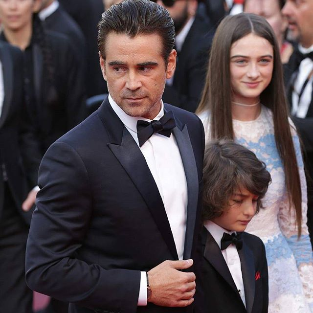 Colin Farrell, sir! Attending to