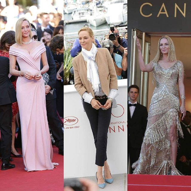Gorgeous & classy. This is how every @ithurman 's appearance on the red carpet of #Cannes2017 was. #CannesLifestyle #PromenadaRo  #cannes #exclusivephoto #cannes #cannesfilmfestival #fashionpost #instastyle #fblogger #lookbook #fashionlover #lookoftheday #fashionable#fashionblog #fashionstyle #fashiongram #ig_bucharest #ig_romania